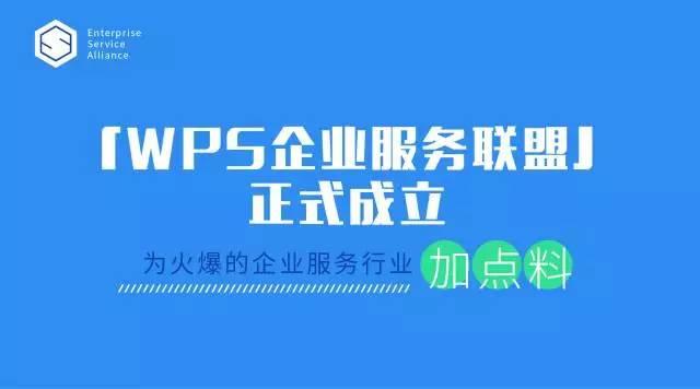 金数据首批入驻「WPS企业服务联盟」